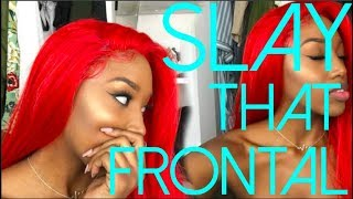 How To Slay A Synthetic Lace Front Wig And Make It Look Natural with NO Glue