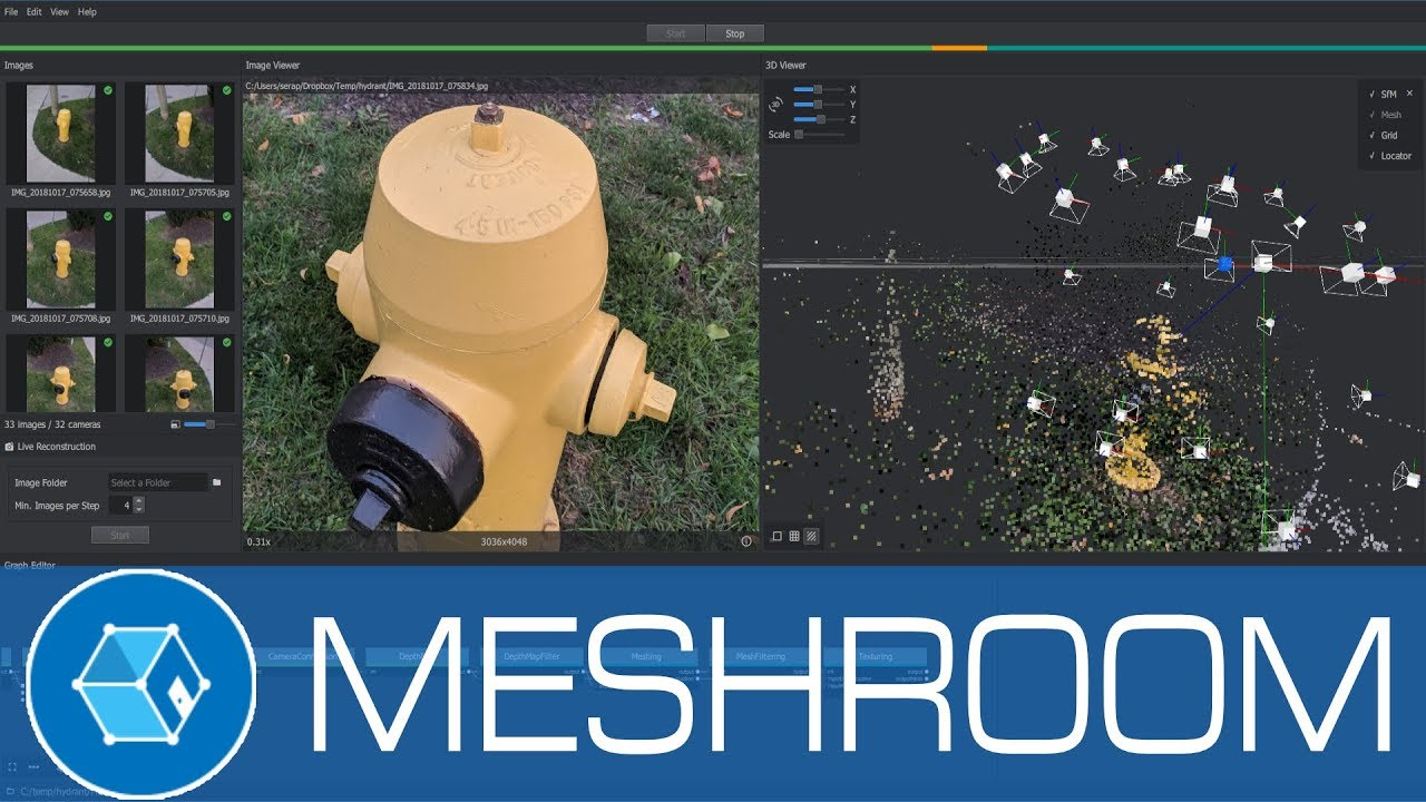 3d Open Meshroom 3d Models From Photos Using This Free Open Source Photogrammetry Software