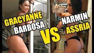 Hot Gym Girls Working Out - Gracyanne Barbosa VS Narmin Assria