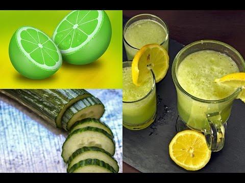 jugo de pepino con limón para bajar de peso