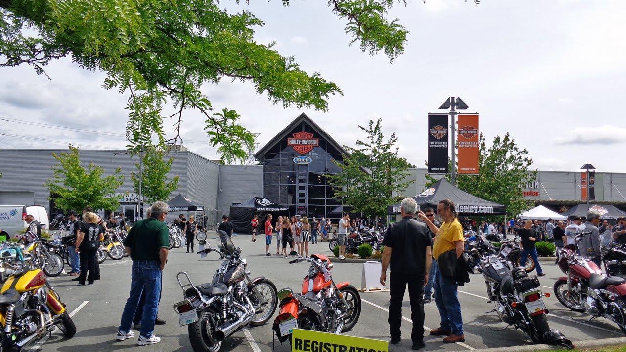Trev Deeley Harley Davidson show n shine Vancouver 2014 - YouTube