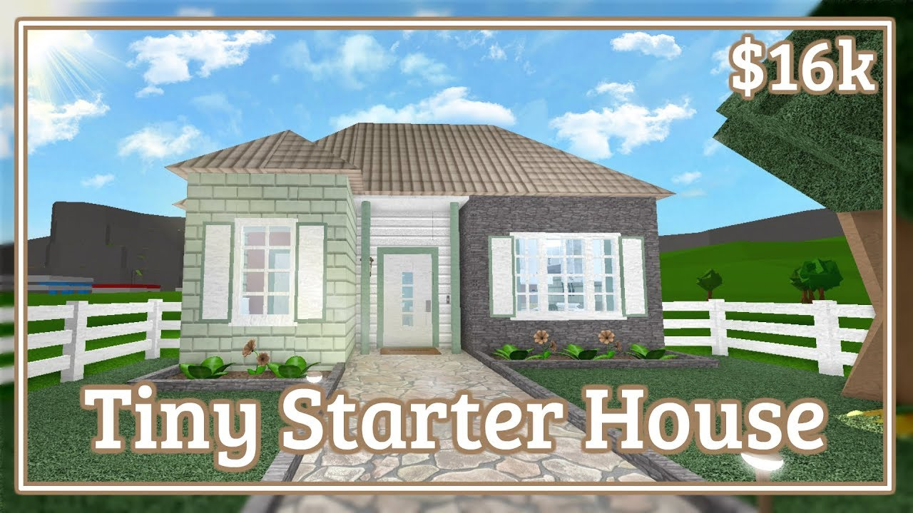 Bloxburg Tiny Starter House Speed Build No Gamepasses