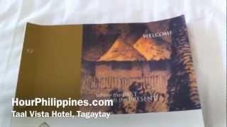Taal Vista Hotel Tagaytay Room Service Menu by HourPhilippines.com