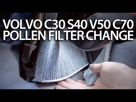 How to change pollen filter Volvo C30 S40 V50 C70 (cabin air filter replace service)