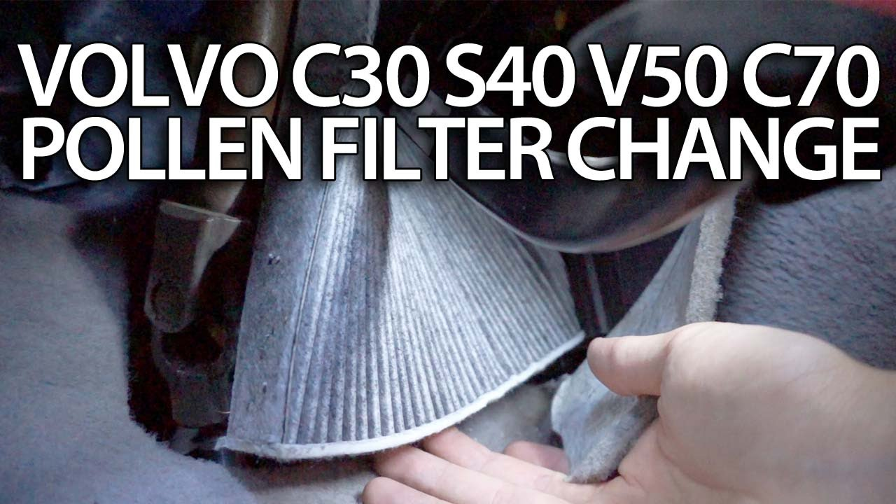 maxresdefault how to change pollen filter volvo c30 s40 v50 c70 (cabin air  at panicattacktreatment.co