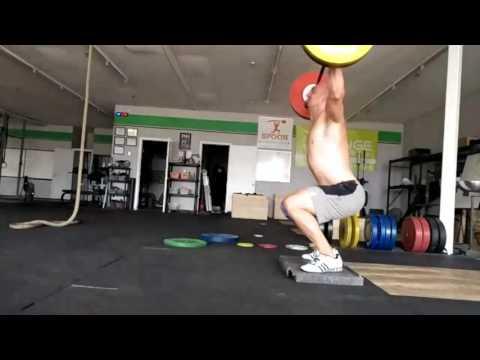 Willie McLendon 100kg Defecit Snatches - Rough Day