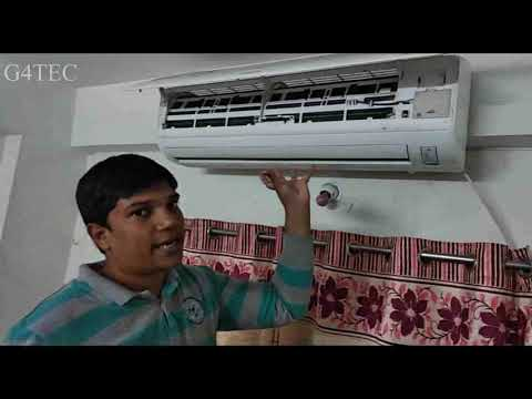 Samsung 1.5 ton  all weather AC FILTER cleaning full video [ Hindi ]