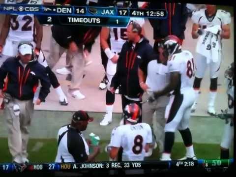 Josh McDaniels rips Richard Quinn (Broncos @ Jaguars Week 1 2010)