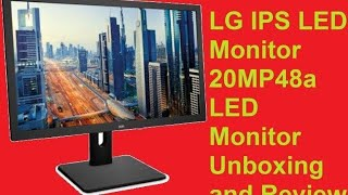 Unboxing New LG IPS LED Monitor 20MP48 19 5inch is Amazing IPS LED Monitor