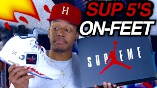 Jordan x Supreme 5's W/ On-Feet Review
