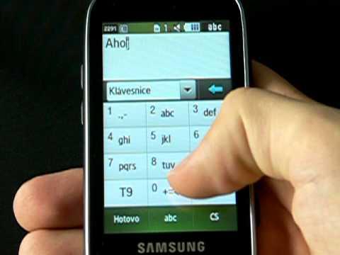 Samsung S5560 - kontakty a zprávy