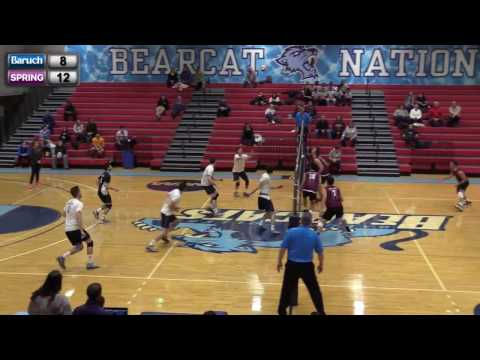2017 Baruch Men's Volleyball vs Springfield College, Friday, January 27, 2017 at 6pm