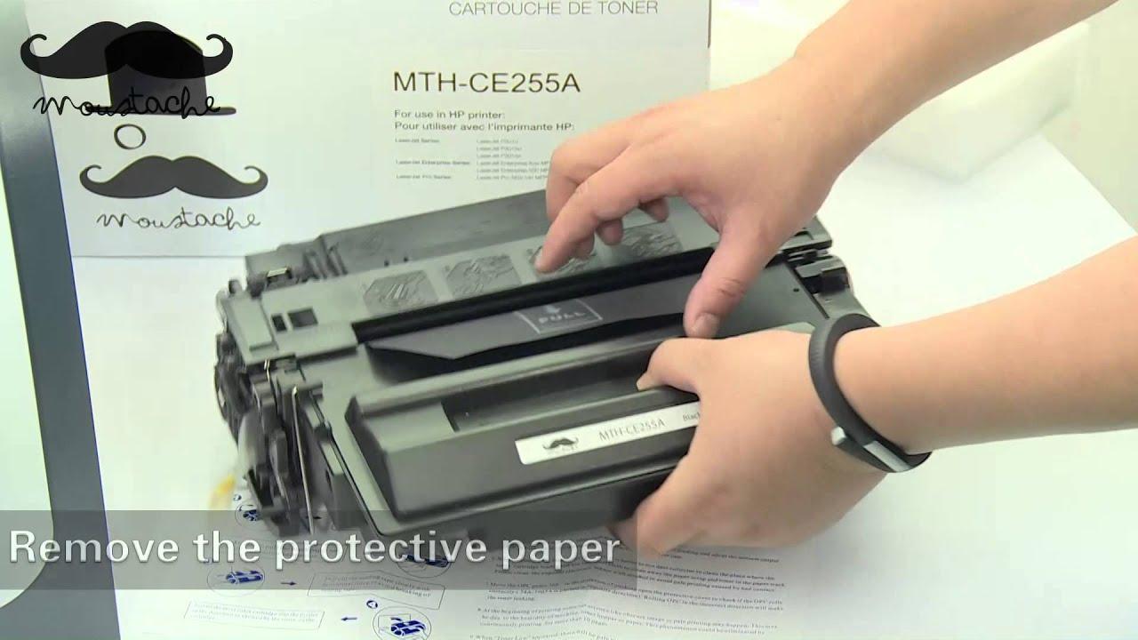 how to install hp ce255a toner cartridge for hp laserjet. Black Bedroom Furniture Sets. Home Design Ideas