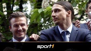 Zlatan Ibrahimovic und David Beckham vereinbaren irre Wette bei WM 2018 | SPORT1 - DER TAG