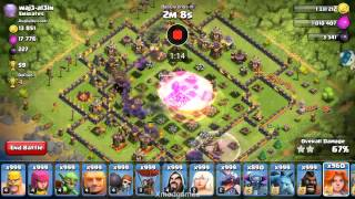 Attack on best player with 999 all troops in coc