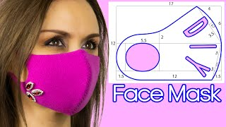How to Make a Face Mask in 4 minutes Face Mask Pattern Face Mask Sewing Tutorial