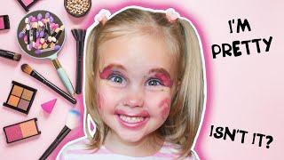 Софи и ее первый макияж 💄 Sofi and her first Makeup