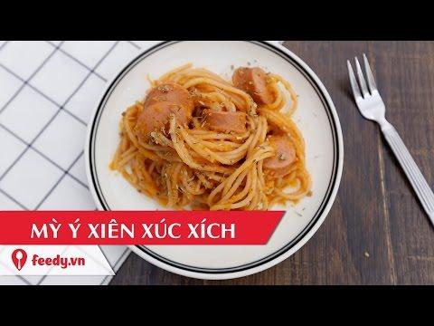 Hướng dẫn cách làm mỳ Ý xiên xúc xích độc đáo - Spaghetti Skewered Sausage
