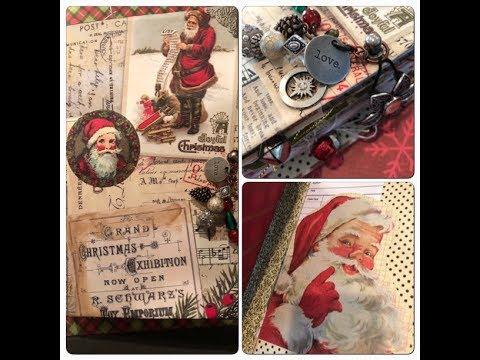 Writing Journal | Santa Claus | Junk Journal Flip
