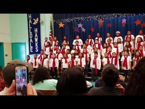 Christmas in halldale elementary school 2