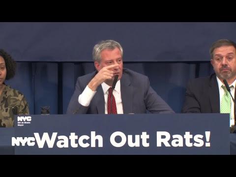 Mayor de Blasio Visits Bushwick Houses & Makes Announcement Concerning Rat Abatement