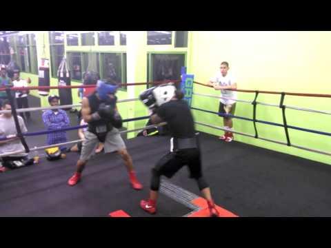 Oscar moreno sparring 2014