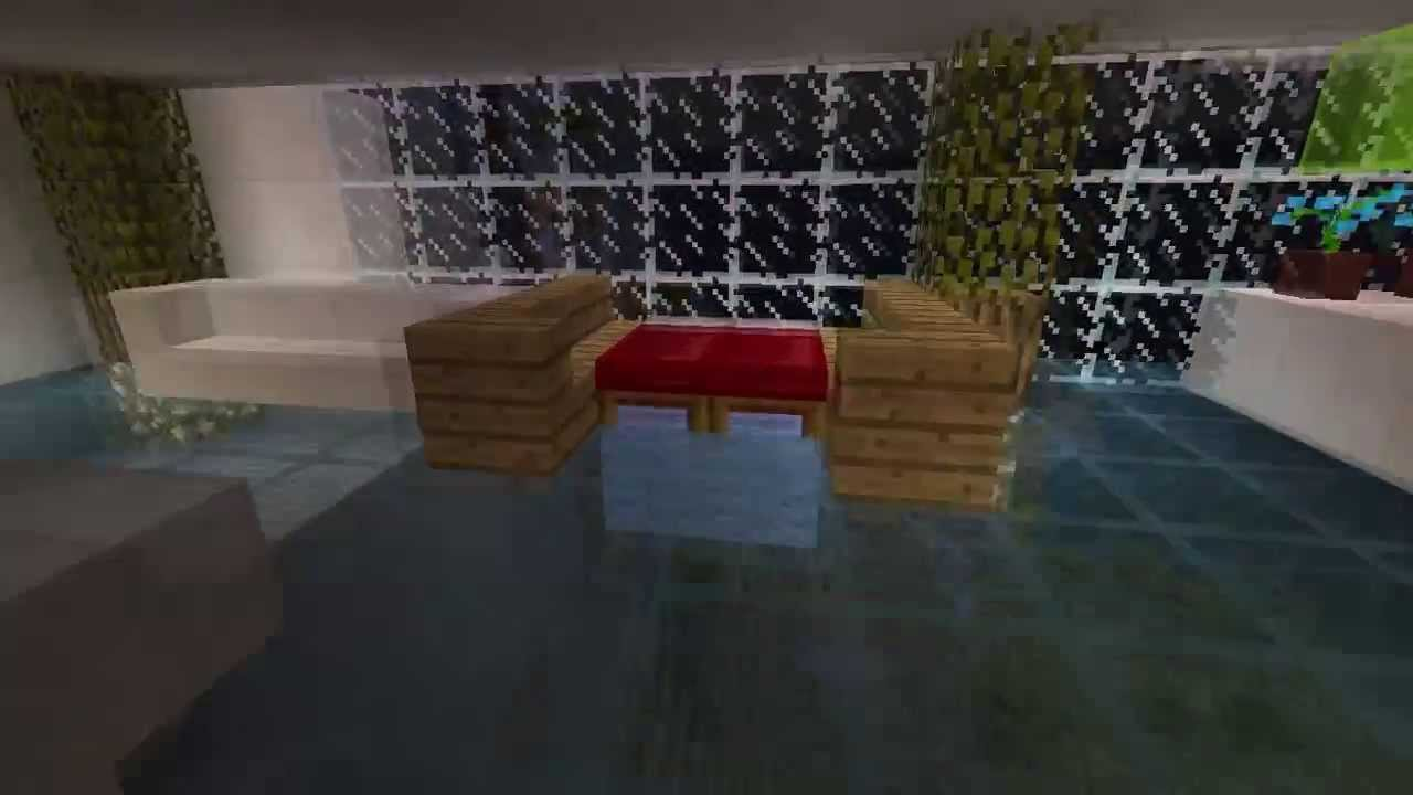 minecraft glass floor