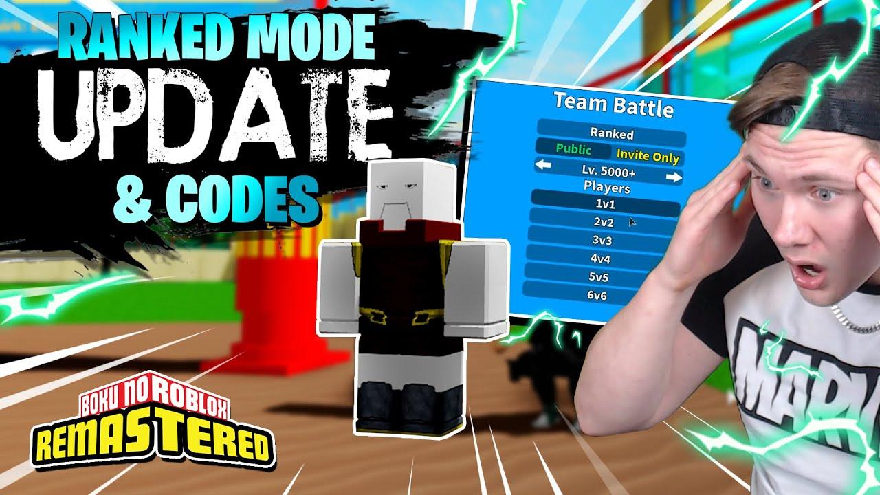 Boku No Roblox Remastered Upcoming Pvp Ranked Mode Update Codes