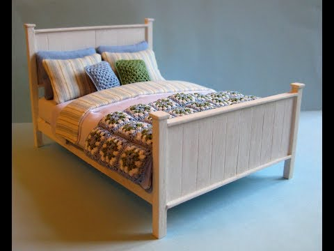 1/12th Scale Double Bed Tutorial - Part Two