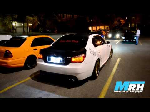 Alpha Auto Works BMW M5 Revving and Powerslide in Calgary