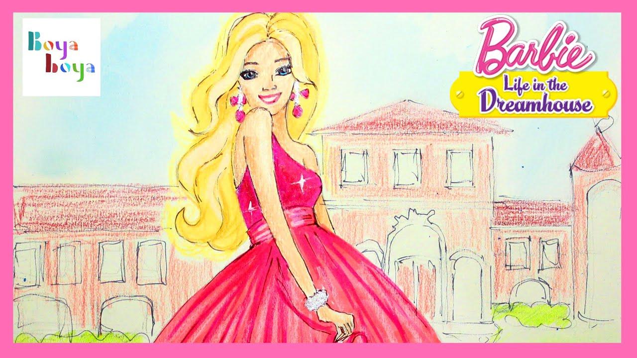 Barbie Dream House Nasıl çizilir çizim Teknikleri Boya Boya