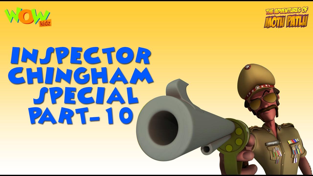 Inspector Chingam Special Part 10 Motu Patlu Compilation As Seen