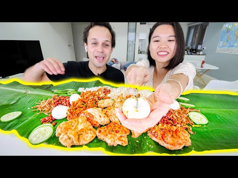 MALAYSIAN STREET FOOD!!! At HOME!!! (Nasi Lemak) The BEST Street Food in Malaysia!!!