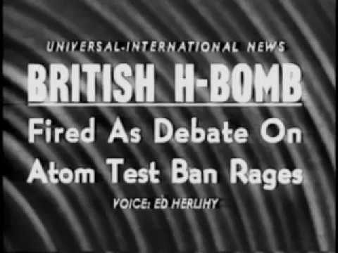 British Nuclear Testing  [ Hydrogen Bomb ]  at Christmas Island