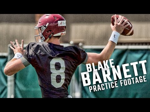 See how Blake Barnett looked as Alabama opened fall practice
