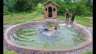 Build Mud House & Underground Swimming Pool at Wild. Full video