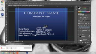 Full tutorial on how to build a basic business card design in Photoshop