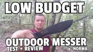 ✔LOW BUDGET OUTDOOR KNIFE  v. NORMA Test + Review / German Video