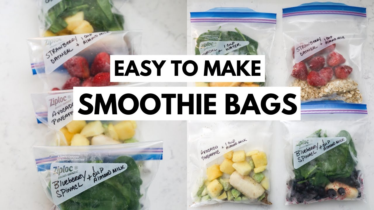 Small Smoothie Freezer Bags | Easy Smoothie Prep | Simple Ingredients