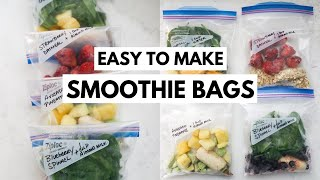 Small Smoothie Freezer Bags Easy Smoothie Prep Simple  Ngredients
