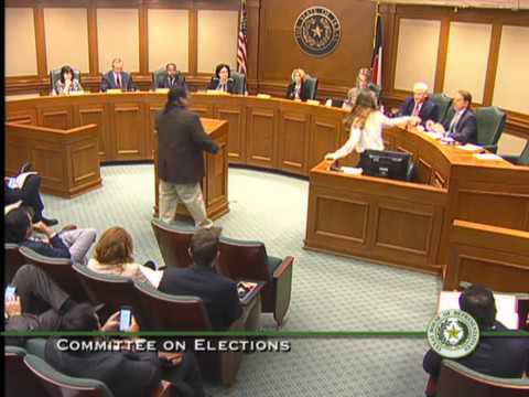 Texas House Committee on Elections Meeting - April 10, 2017