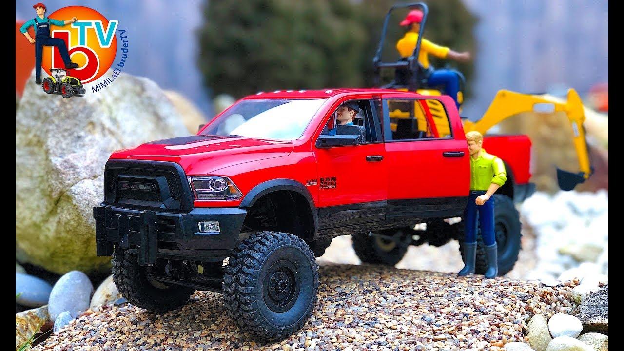 BRUDER Truck RAM 2500 Cars RC ADVENTURES - YouTube