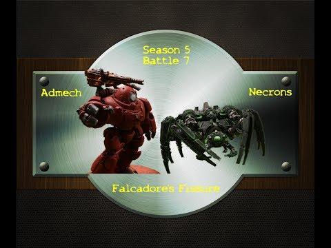 Admech v Necrons (Falcadores Fissure) Season 5 Battle 7 WH40k Stop Motion