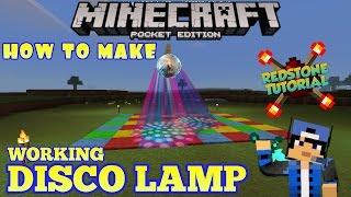 How To Make DISCO LAMP - Minecraft PE (Pocket Edition) #22