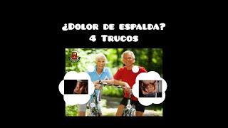 4 TRUCOS para TU DOLOR DE ESPALDA