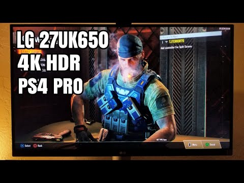 LG 27UK650 4K HDR Monitor with PS4 PRO