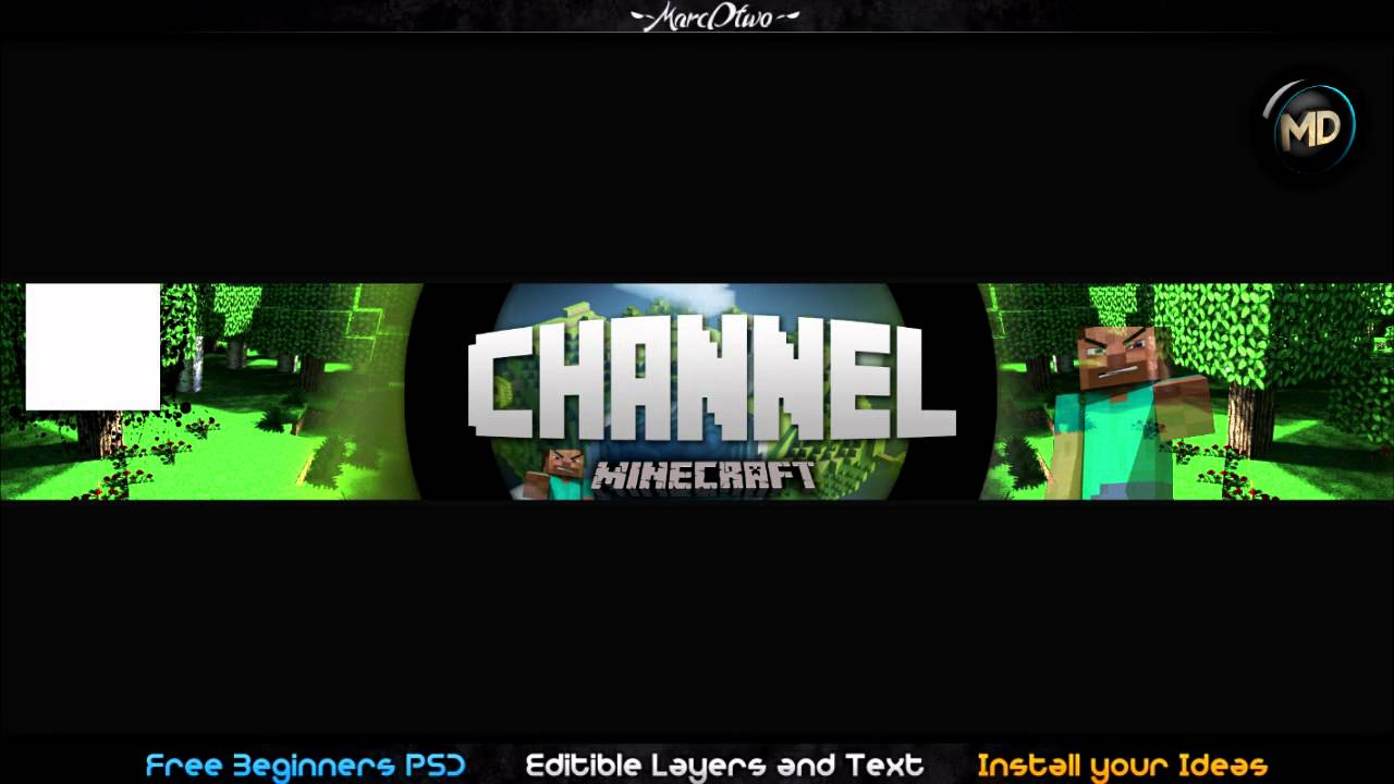 MINECRAFT Free One Channel PSD/Template Layout & Changeble Text | By ...