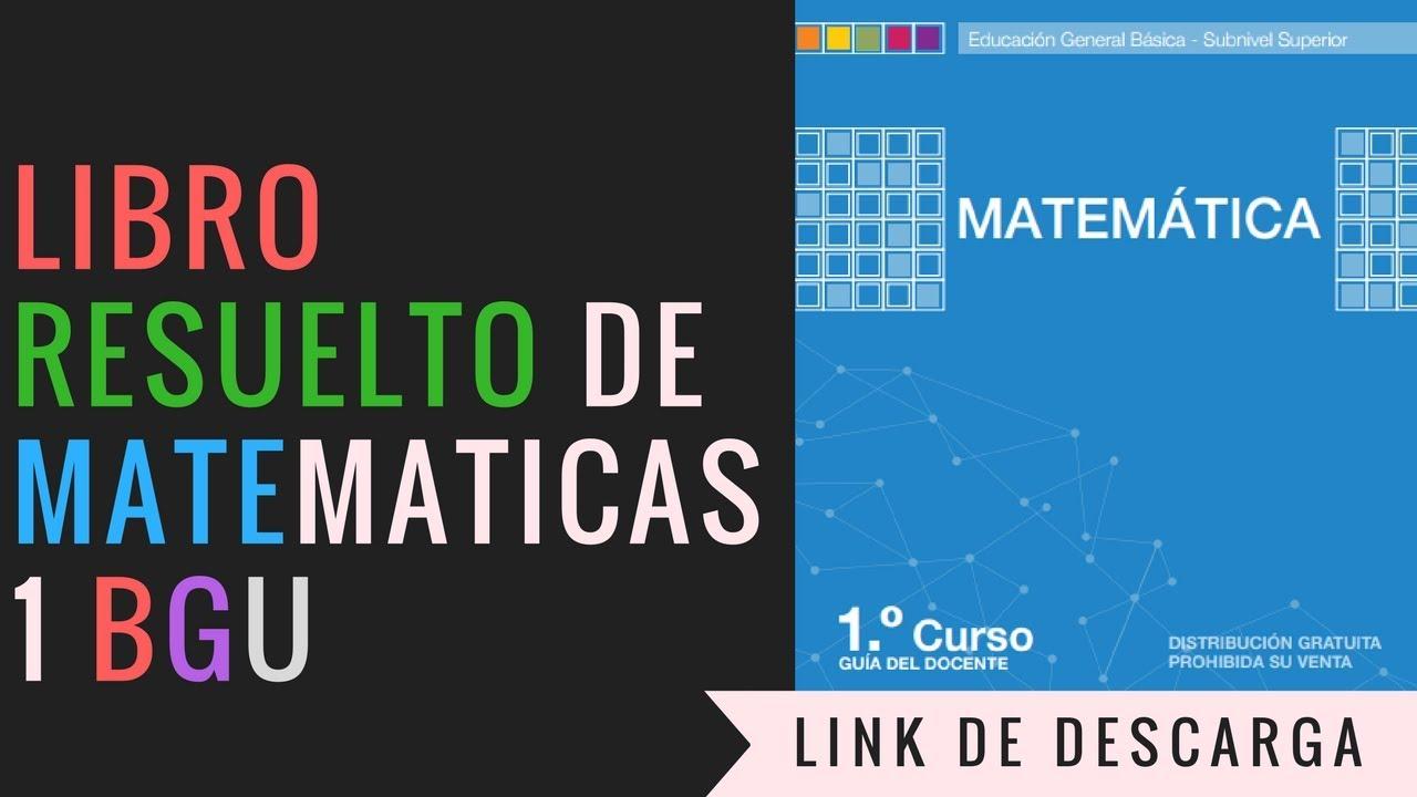 DESCARGAR LIBRO DE MATEMÁTICAS RESUELTO (PRIMERO DE