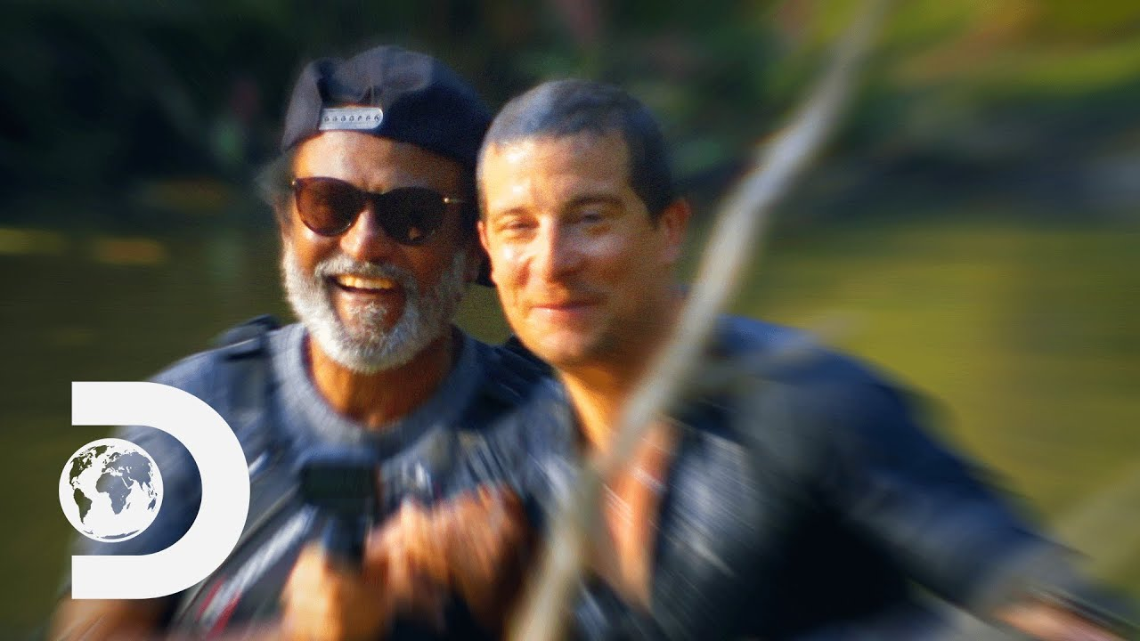 Download Bear Grylls and RajiniKanth Cross Crocodile-Infested Waters | Into the Wild with Bear Grylls