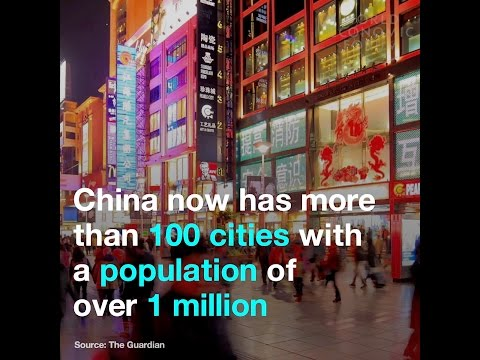 China now has more than 100 cities with a population of over 1 million